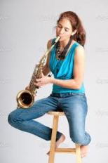 Girl on Saxophone